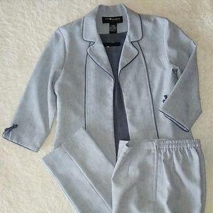 Sag Harbor Three Piece Suit Size 6P